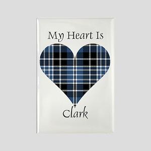 Heart - Clark Rectangle Magnet