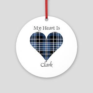 Heart - Clark Ornament (Round)