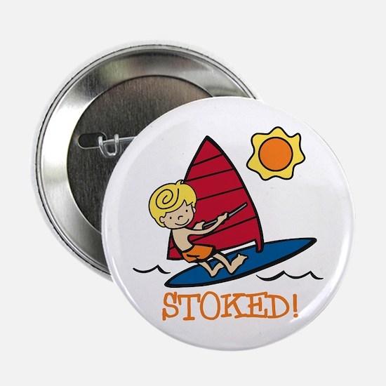 "Windsurf Stoked 2.25"" Button"