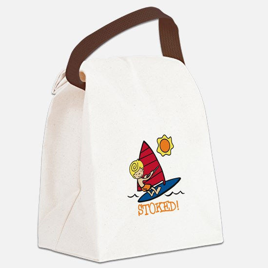 Windsurf Stoked Canvas Lunch Bag