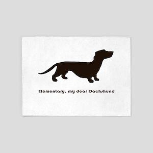 Elementary, my dear Dachshund 5'x7'Area Rug