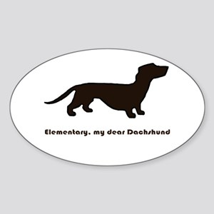 Elementary, my dear Dachshund Sticker