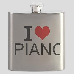 I Love Piano Flask