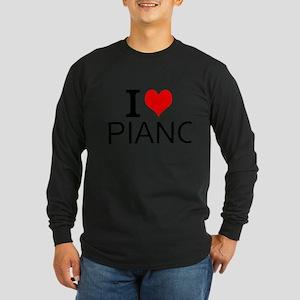 I Love Piano Long Sleeve T-Shirt