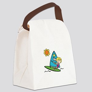 Windsurfing Girl Canvas Lunch Bag