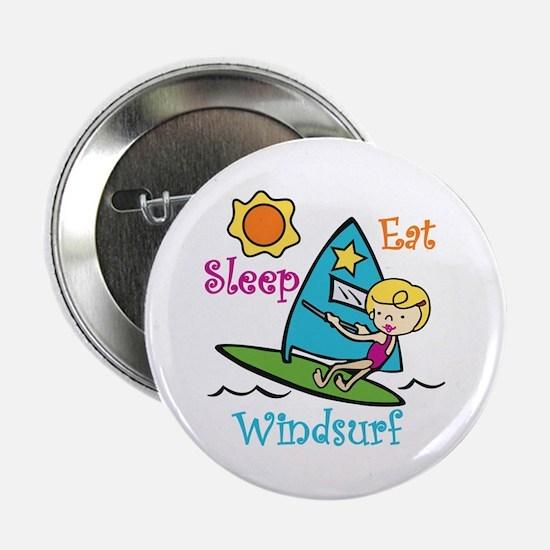 """Eat Sleep Windsurf 2.25"""" Button"""