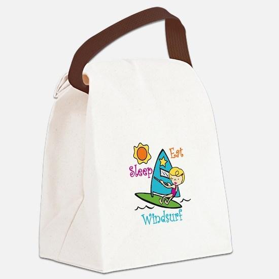 Eat Sleep Windsurf Canvas Lunch Bag