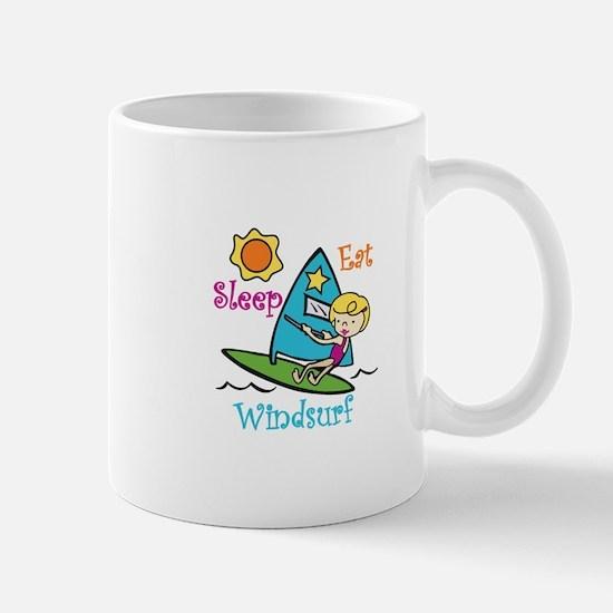 Eat Sleep Windsurf Mugs
