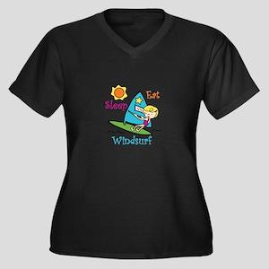 Eat Sleep Windsurf Plus Size T-Shirt