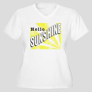 Hello Sunshine Women's Plus Size V-Neck T-Shirt