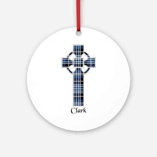 Cross - Clark Ornament (Round)