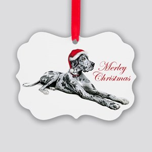 Great Dane Merley Xmas UC Picture Ornament