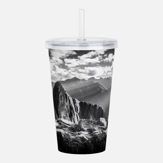 Cute Machu picchu peru Acrylic Double-wall Tumbler