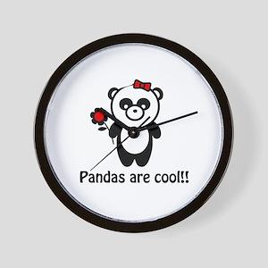 Pandas are Cool Wall Clock