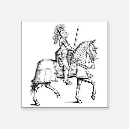 Knight in Armor Sticker