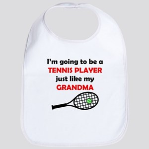 Tennis Player Like My Grandma Bib