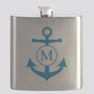 Anchor, Nautical Monogram Flask