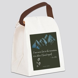 Never Lost in Mountains Canvas Lunch Bag
