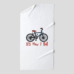 How I Roll Beach Towel