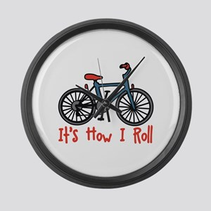 How I Roll Large Wall Clock