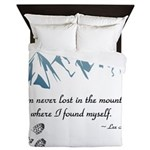Never Lost in the Mts Queen Duvet