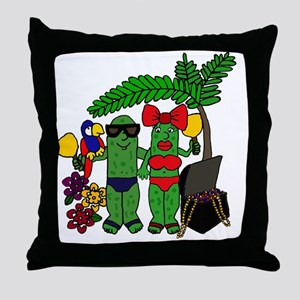 Pickles in Paradise Throw Pillow