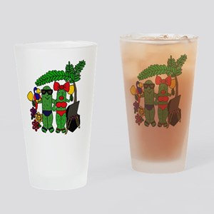 Pickles in Paradise Drinking Glass