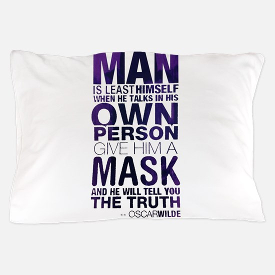 Cute Guy fawkes mask Pillow Case