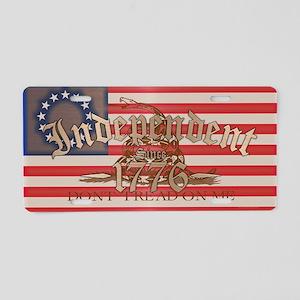 Independent Aluminum License Plate