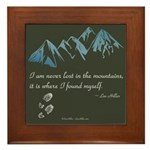 Never Lost In Mountains Framed Tile