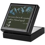 Never Lost in Mountains Keepsake Box