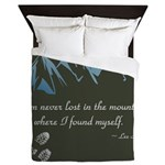 Never Lost in Mountains Queen Duvet