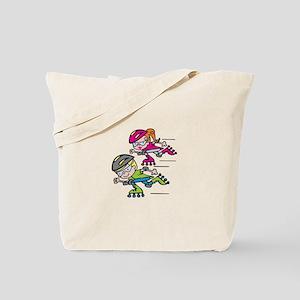 Rollerblading Kids Tote Bag