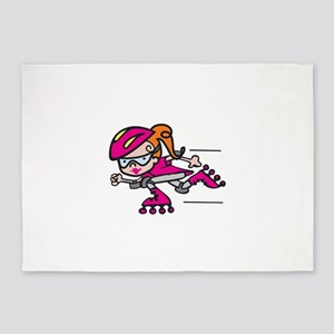 Rollerblading Girl 5'x7'Area Rug