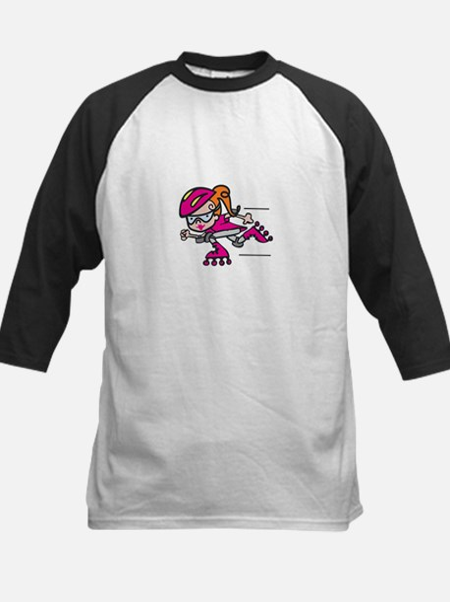 Rollerblading Girl Baseball Jersey