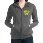 Like I Care Green-Gold Women's Zip Hoodie