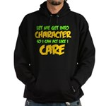 Like I Care Green-Gold Hoodie (dark)