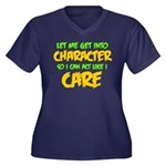 Like I Care Women's Plus Size V-Neck Dark T-Shirt