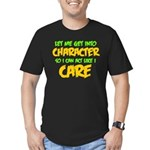Like I Care Green-Gold Men's Fitted T-Shirt (dark)