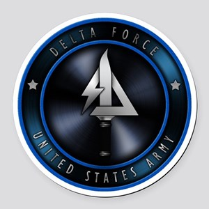 US Army Delta Force Round Car Magnet