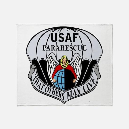 Usaf Pj Logo Throw Blanket