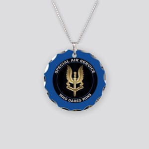 Special Air Service Necklace Circle Charm