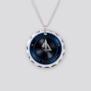 US Army Delta Force Necklace Circle Charm