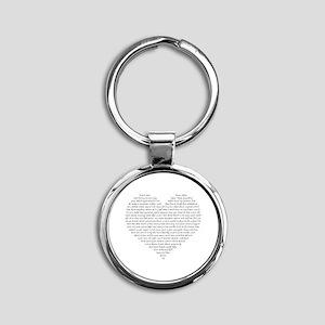 Verb Heart Round Keychain