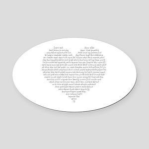 Verb Heart Oval Car Magnet