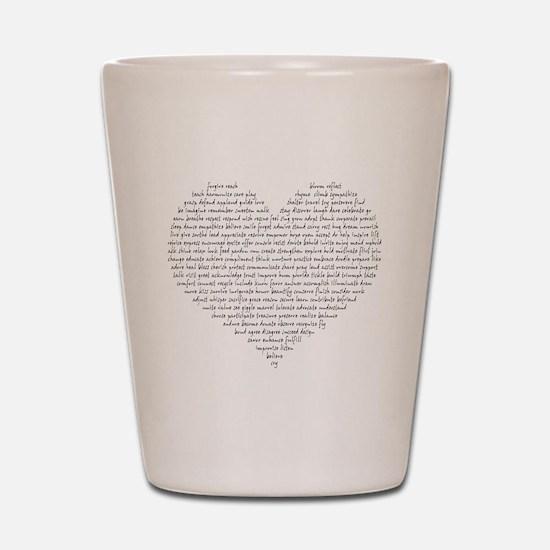 Verb Heart Shot Glass