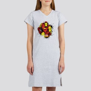 Iron Man Paint Splatter Women's Nightshirt