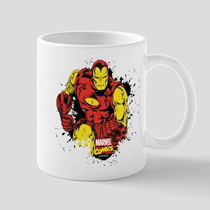 Iron Man Paint Splatter Mug