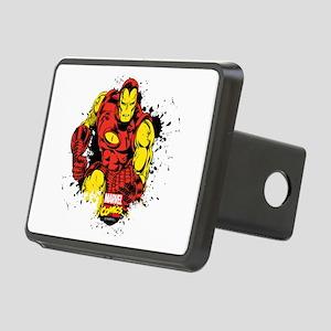 Iron Man Paint Splatter Rectangular Hitch Cover
