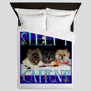 Sleepy Cairn Terriers Queen Duvet